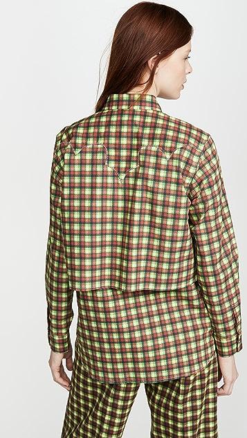 Toga Pulla Broad 西部风情格纹衬衫