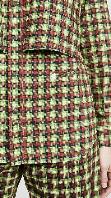Toga Pulla Broad Western Check Shirt