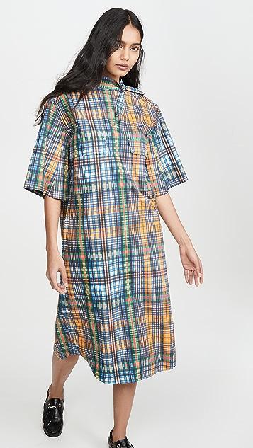 Toga Pulla Broad Check Dress