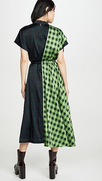 Toga Pulla Check Print Dress