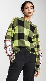 Toga Pulla Check Knit Pullover