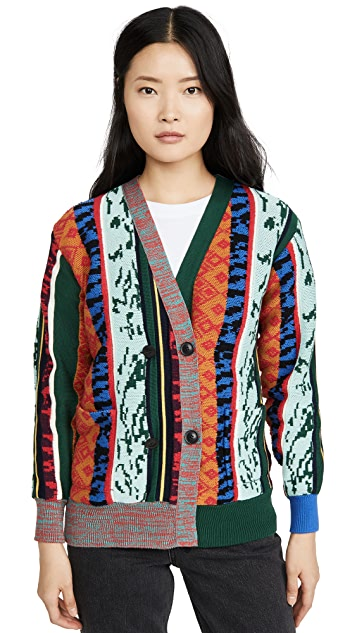 Toga Pulla Wide Rib Knit Cardigan