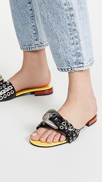 Toga Pulla Metal Grommet Buckle Sandals