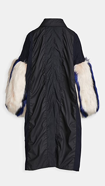 Toga Pulla Polyester Taffeta Faux Fur Coat