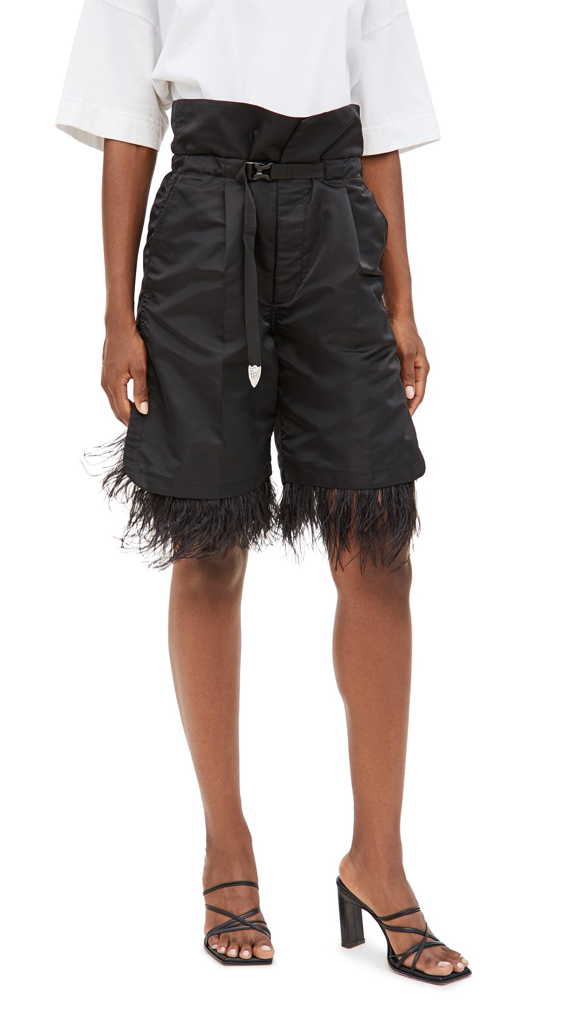 Toga Pulla Nylon Twill Feather Shorts