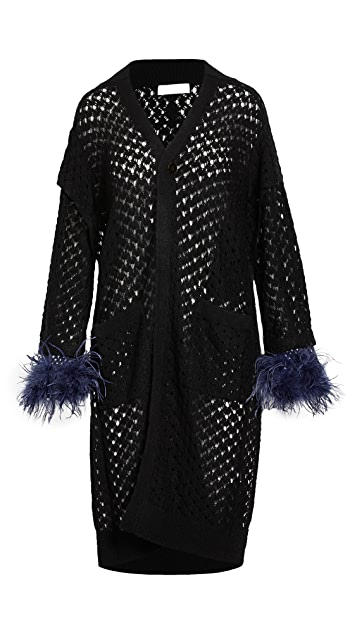 Toga Pulla Mohair Feather Knit Cardigan