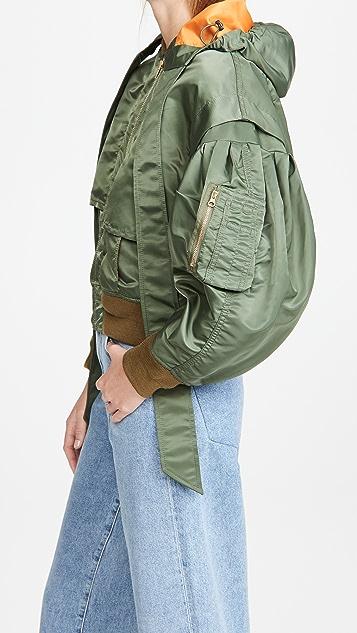 Toga Pulla 锦纶斜纹织物短夹克