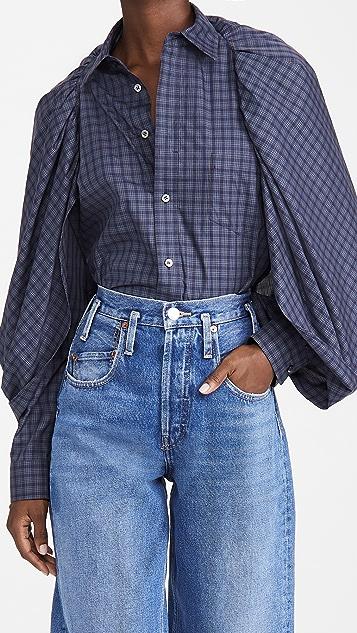 Toga Pulla Cape Cotton Check Shirt