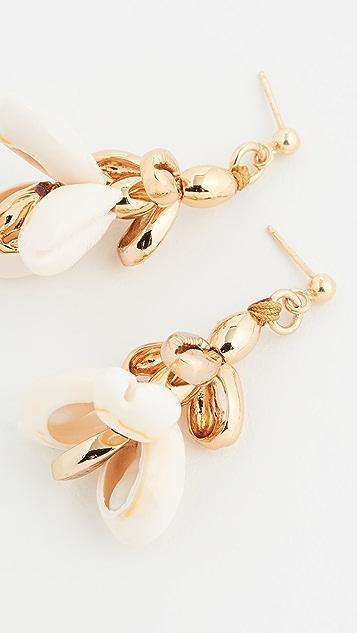 Tohum Multi Puka Shell Small Earrings