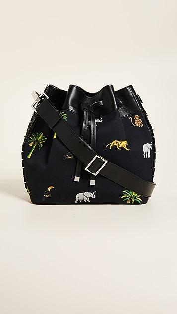 TOMASINI Montaigne Canvas Bucket Bag - Black Multi