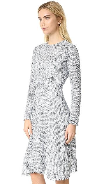 Tome Tweed Long Sleeve Flare Dress