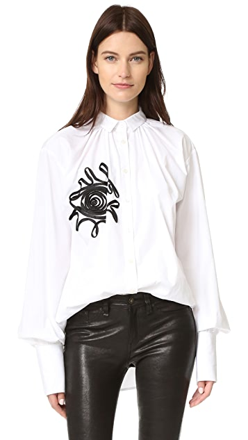 Tome Embroidered Shirt with Evil Eye