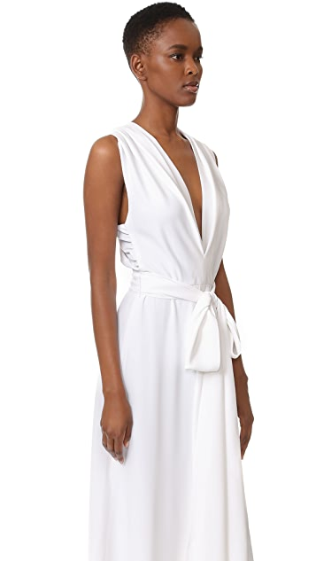 Tome Sleeveless Gathered Front Dress