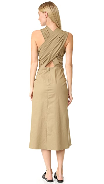 Tome Sleeveless Draped Dress
