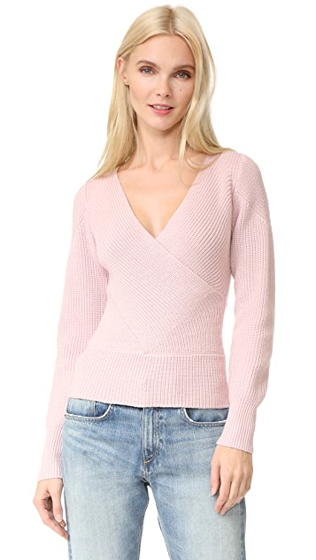 Tome Long Sleeve Crossover Sweater