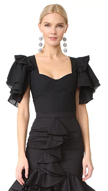 Tome Bra Top with Sleeves