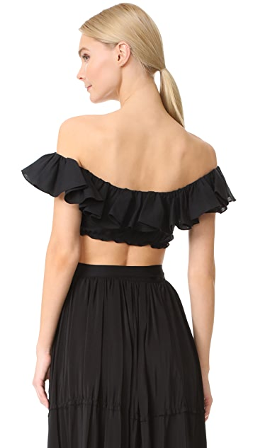 Tome Ruffle Crop Top