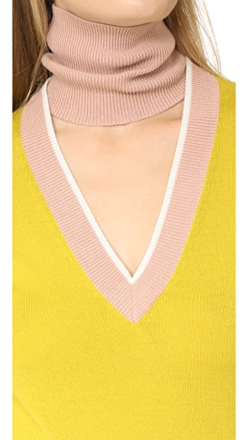 Tome Deep V Turtleneck Sweater