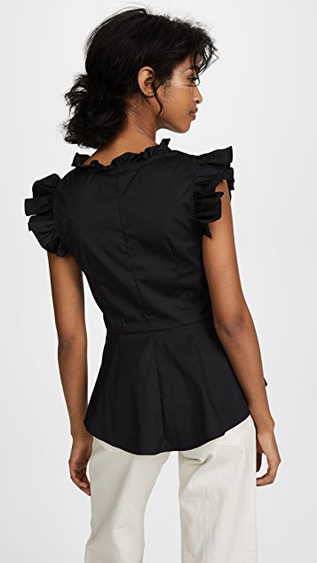 Tome Ruffle Trim Top
