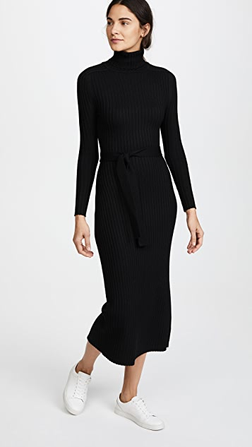 Tome Long Sleeve Turtleneck Maxi Dress