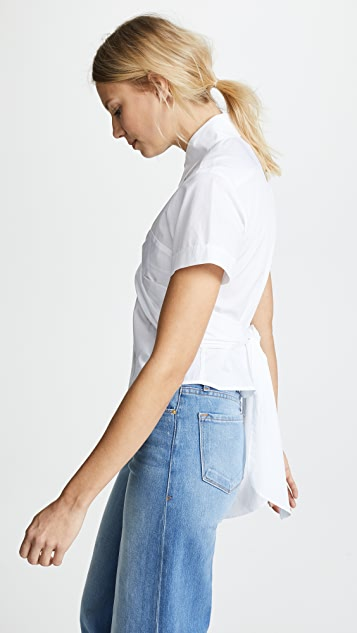 Tome Cropped Bustier Shirt