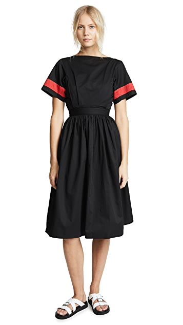 Tome Boat Neck Drindle Dress