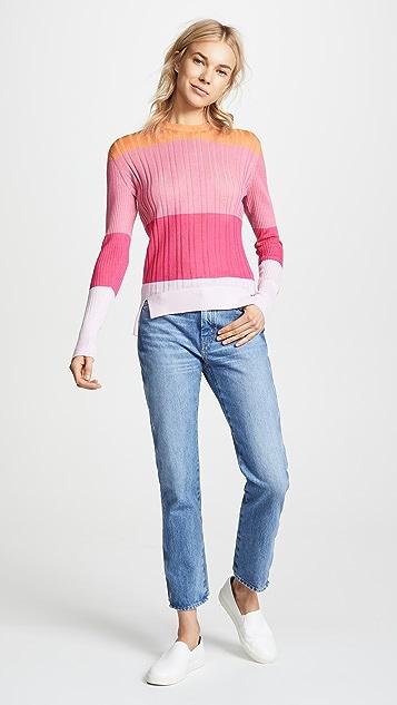 Tome Colorblock Crew Neck Sweater