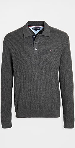 Tommy Hilfiger - Textured Polo Sweater