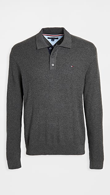 Tommy Hilfiger Textured Polo Sweater