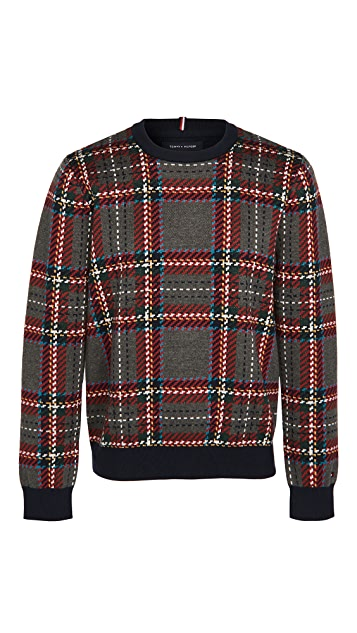 Tommy Hilfiger Collins Plaid Crew Sweater