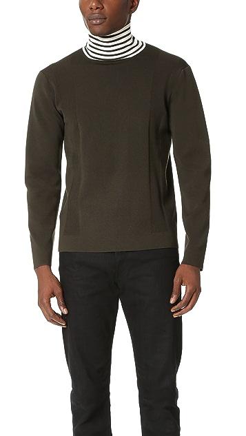 Tomorrowland Elastic Merino High Neck Pullover