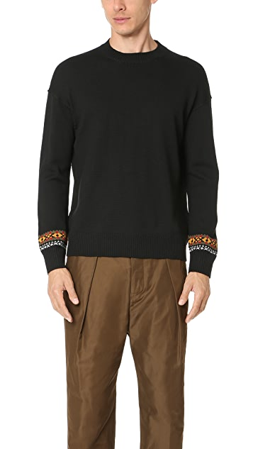 Tomorrowland Merino Basic Jacquard Pullover