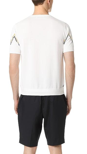 Tomorrowland Zigzag Stripe Short Sleeve Sweater