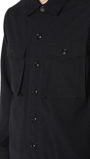 Tomorrowland Long Sleeve Flannel Shirt