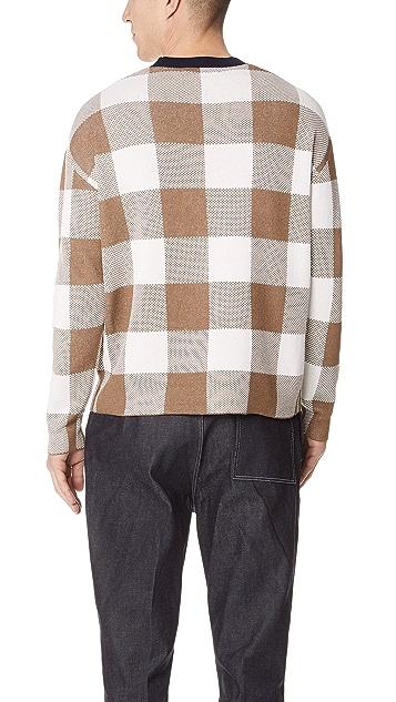 Tomorrowland Big Check Jacquard Sweater