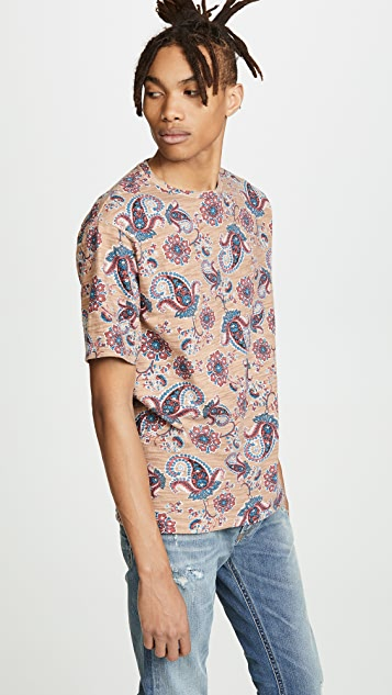 Tomorrowland Printed Slub Tee