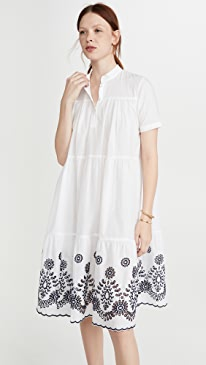 Embroidered Short Dress