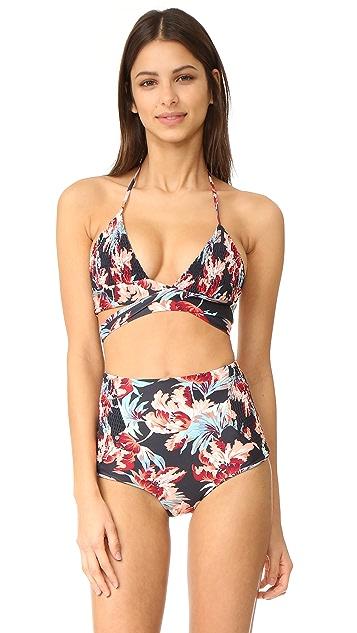 Tori Praver Swimwear Milos Floral Myra Wrap Top