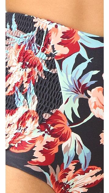 Tori Praver Swimwear Milos Floral Francesca High Waist Bottoms
