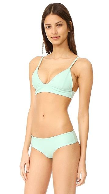 Tori Praver Swimwear Solids Daniela Triangle Top