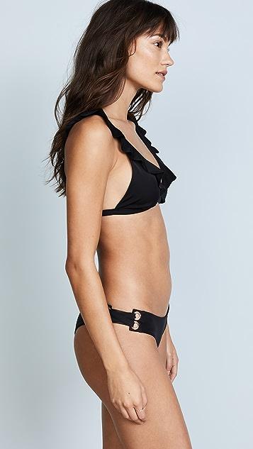 Tori Praver Swimwear Adriana Ruffle Top