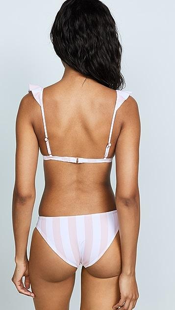 Tori Praver Swimwear Adriana Ruffle Triangle Bikini Top