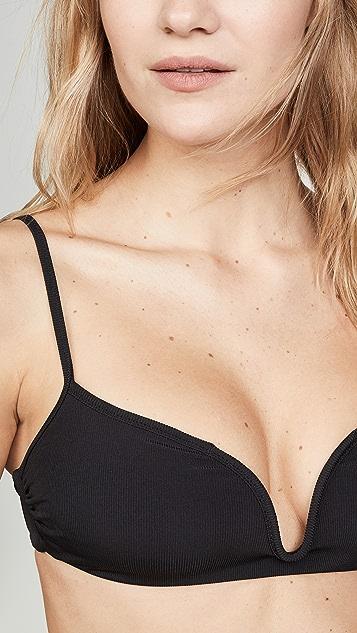 Tori Praver Swimwear Poppy Rib Bralette Bikini Top