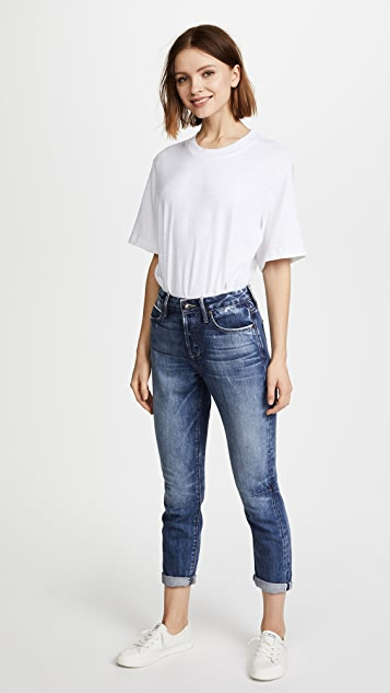 Tortoise Dory High Waisted Tapered Crop Jeans