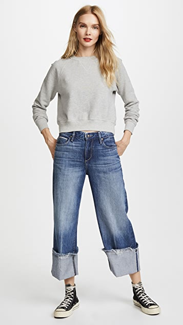 Tortoise Canni Slouchy Crop Wideleg Jeans