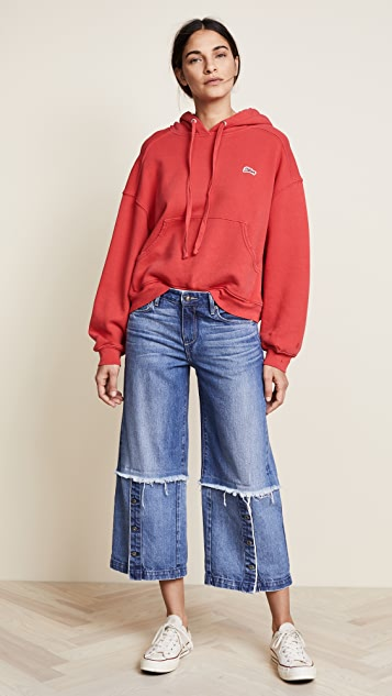 Tortoise Canni Slouchy Crop Wide Leg Jeans