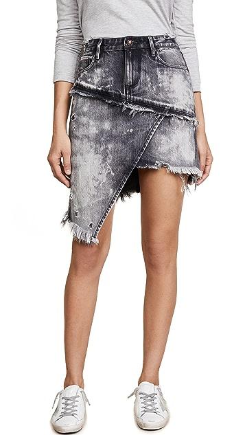 Tortoise Elseya Asymmetrical Overlap Skirt