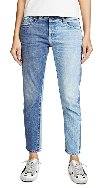 Tortoise Savanna Cropped Slim Straight Jeans