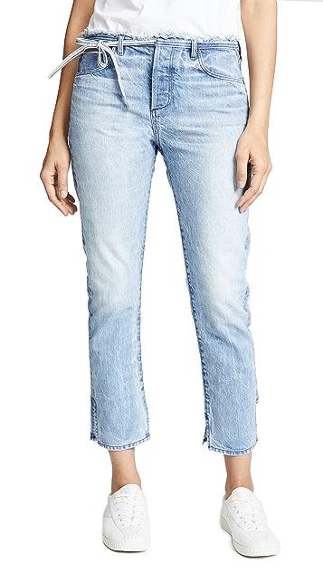 Tortoise Tufa Slim Straight Crop Jeans