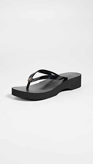 b488761489 Tory Burch Cutout Wedge Flip Flops | SHOPBOP